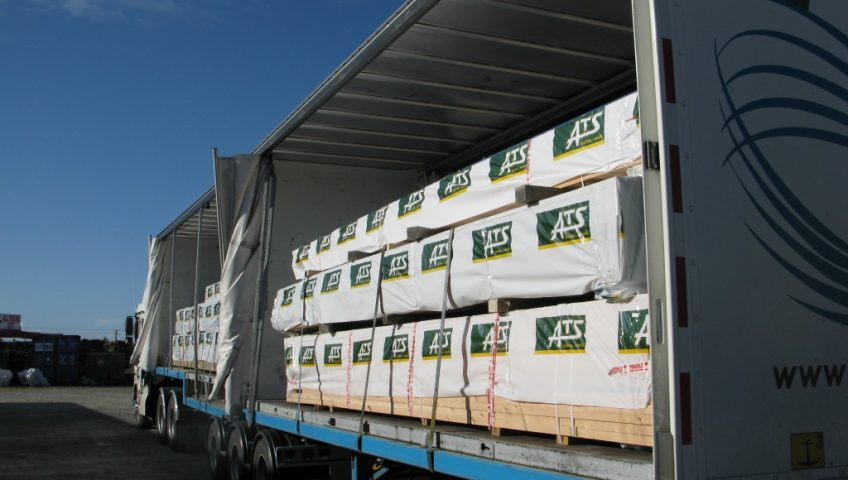 PBT with a full load of ATS Timber