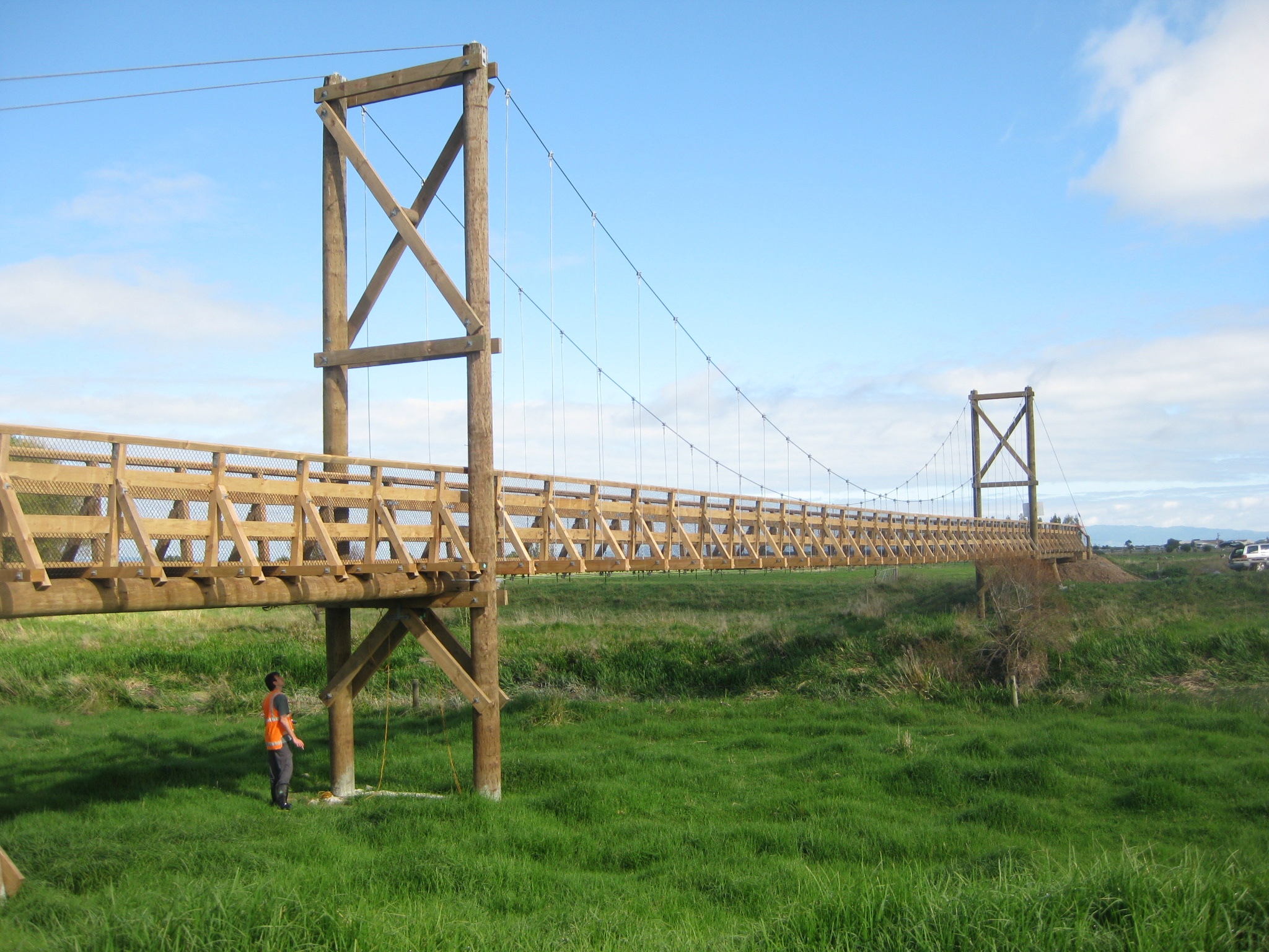 Hauraki rail trail bridges ats timber for Timber frame bridge